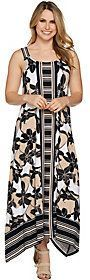 C. Wonder Regular Printed Handkerchief Maxi Dress