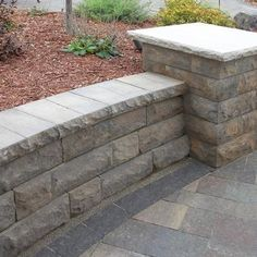 When seeking retaining wall blocks for your next outdoor landscape or patio project, see what makes the stone retaining wall pavers from Belgard stand out above the rest. Retaining Wall Blocks, Landscaping Retaining Walls, Stone Retaining Wall, Home Landscaping, Retaining Wall With Steps, Fire Pit Area, Wall Seating, Concrete Patio, Patio Design