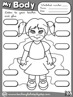 Body Parts Coloring Pages For Kids … Pinteres…