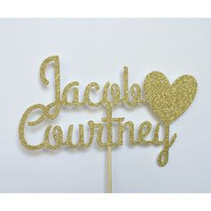 Personalized Name Cake Topper by TheLittlePopShop on Etsy
