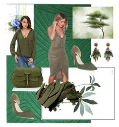 """""""Green"""" by amiraahmetovic ❤ liked on Polyvore featuring White House Black Market, Fontana Milano 1915, Bobbi Brown Cosmetics and Ann Taylor"""