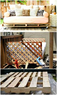 Build Your Own a Pallet Daybed - 110 DIY Backyard Ideas to Try Out This Spring & Summer - DIY & Crafts