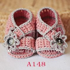 Baby Booties Crochet PATTERN - Diagonal Strap Crochet Sandals 80pairs Free shipping(China (Mainland))
