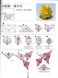 Resultado de imagem para kusudama diagrama