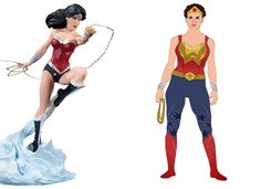 Buzzfeed asked illustrator Celeste Pille to redesign well-known DC and Marvel universe super-heroine costumes from a female perspective. That and the fact that she gave the women in question body shapes that at least are possible in the real world, actually adds to their allure. This Wonder Woman really would kick your ass and Power Girl actually looks, well, powerful.