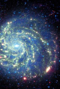 Spitzer Space Telescope's View of Galaxy Messier 101 Cosmos, All Nature, Science Nature, Spitzer Space Telescope, Space Photos, Carl Sagan, Space And Astronomy, Deep Space, Space Space