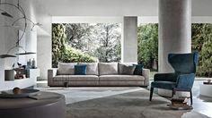 Divan, fauteuil et décorations design. http://www.denisinterieur.be/ #meubles #design #salon #déco #maison #mobilier #inspiration #home #moderne #contemporain #intérieur