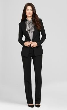 A classic jacket for the office trailblazer, you'll be wearing this silhouette from season to season.     http://www.elietahari.com/SEASONLESS-WOOL-PANT-SUIT/ETLOOKF201220004,default,pd.html?start=3=wear_to_work_women=wear_to_work_women