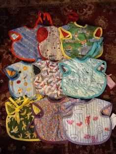 Apron Bibs  from Ribbons and Threads www.facebook.com/RibbonsandThreads