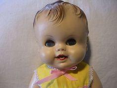 Vintage-Doll-1960s-Ruth-E-Newton-Sunbabe-Babee-Bee-14-green-sleepy-eyes