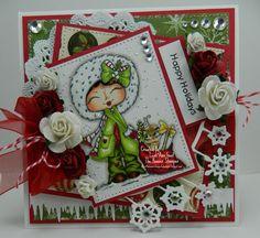 Happy Holidays Handmade OOAK Christmas Card by thehoosierstamper, $14.95 USD