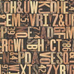 Brewster 2604-21250 Letterpress Sand Typography Wallpaper Sand Home Decor Wallpaper Wallpaper