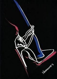 Fashion illustration by Tony Viramontes (1960-1988).