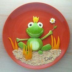 Frog prince food art