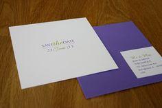 wedding invitation purple wedding / hochzeitseinladung lila-laune