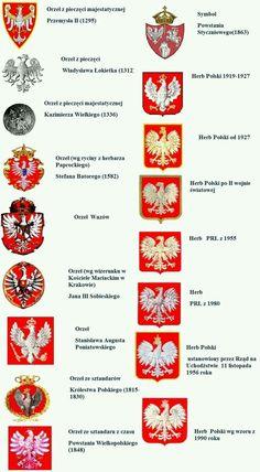 godło Polski ~Be sure that the Eagle is ALWAYS Facing the correct direction. Kaiser Karl, Poland History, Polish Language, Visit Poland, Polish Folk Art, My Roots, Thinking Day, Polish Recipes, Arte Popular