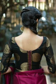 20 Best Type Blouse Designs You Need To See - ArtsyCraftsyDad Brocade Blouse Designs, Saree Blouse Neck Designs, Simple Blouse Designs, Stylish Blouse Design, Designer Blouse Patterns, Latest Blouse Designs, Saree Blouse Patterns, Blouse Models, Indian Fashion