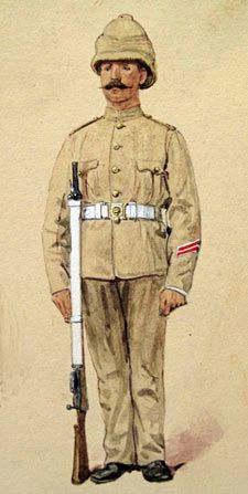 Illustration of soldier of the Boer War era. Lead Soldiers, Toy Soldiers, Victorian Life, Armed Conflict, Age Of Empires, Military Pictures, History Images, Army Uniform, Modern Warfare