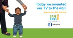 Did You Know? Every two weeks a child dies from a TV or furniture tip-over. Get more easy tips to help you make every day a Safe Kids Day. | Baby Safe Homes | baby safety | kids safety