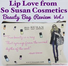 The Lip Love monthly  beauty bag from So Susan Cosmetics ​is a cruelty free makeup subscription featuring full-sized products! Check out the first edition's review.