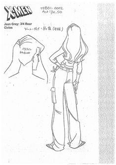 Jean Grey from X-Men Evolution X Men Evolution, Character Model Sheet, Character Modeling, Design Reference, Drawing Reference, Jean Grey Phoenix, Jeans Drawing, Character Design Animation, Marvel Comics