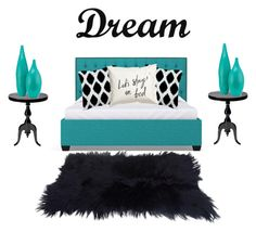 """""""Bedroom #4"""" by bruhitsbriannas on Polyvore featuring interior, interiors, interior design, home, home decor, interior decorating, Dot & Bo and bedroom"""