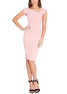 Ssyiz Women's V Neck Sleeveless Pink Slim Business Bodyco... http://www.amazon.com/dp/B016QZPSVI/ref=cm_sw_r_pi_dp_Y6Aqxb11433T9