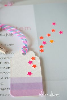 Washi tape week: tags by Ishtar olivera ♥, via Flickr