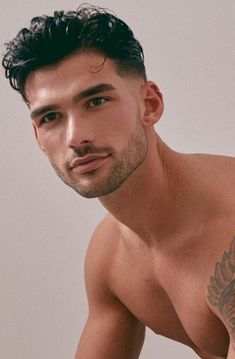 Beautiful Men Faces, Gorgeous Men, Mens Braids Hairstyles, Slicked Back Hair, Thick Eyebrows, Men Photography, Male Face, Attractive Men, Haircuts For Men
