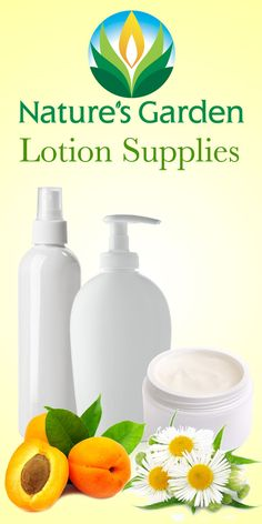 Lotion Making Supplies from Natures Garden.  Make your own fabulous, natural lotion and creams with our supplies.  #lotionmakingsupplies