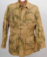 4edef68c68e Rare Original WWII Hand Camouflaged Paratroop Jump Jacket worn in combat in  Operation Dragoon the invasion of Southern France.