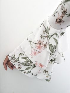 Floral sleeves shirt