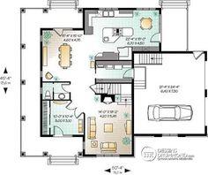 Plans De Maison RDC Du Modèle EcoConcept Maison Moderne à étage - Plan maison 2 niveaux
