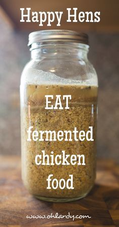 No other feed has the quickest results and brings the chickens to the best of health, than fermented feed.
