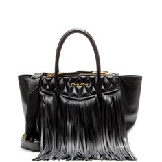 mytheresa.com - Fringed leather tote - Totes - Bags - Luxury Fashion for Women / Designer clothing, shoes, bags Miu Miu