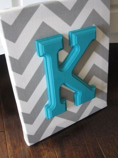 Wall Canvas Letters Nursery Decor Nursery Letters by NurseryShoppe, $11.99  OR - fabric covering a canvas, paint letter, glue to canvas. I can do that!