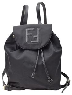 e69c8ba34f66 Fendi Black Nylon Backpack. Get one of the hottest styles of the season!  The. Tradesy