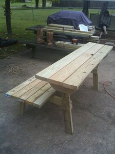 Picnic Table Bench Combination Pattern | ... Found Plans For A Combination  Park Bench