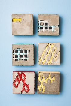 Beautiful mixed media textile sculptures.  B. Walker Trinkets 2013 Bethany Walker interview: Cement & textiles
