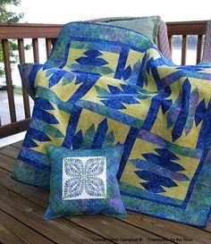 Freemotion by the River: Kaleidoscope Pillow using Island Batik fabrics