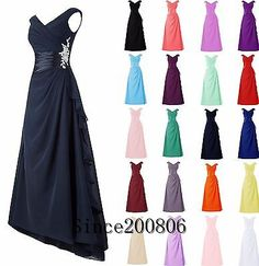Prom And Formal Dresses: 2017 Chiffon Long Bridesmaid Formal Gown Ball Party Cocktail Evening Prom Dress -> BUY IT NOW ONLY: $30.12 on eBay!