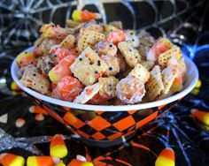 Plain Chicken: Halloween Chex Mix