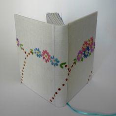 Notebook - A6 bordado Vintage