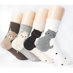 ANIMAL FRIENDS SOCKS 4PAIRS=1PACK Made in KOREA women woman girl big kids funny #MADEINKOREA #allStyle