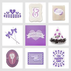 Summer Love - Grape Purple | 22 projects  Made with Cricut Explore, DIY, fun crafts