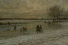 The Athenaeum - Winter Scene in Holland (George Henry Boughton - )