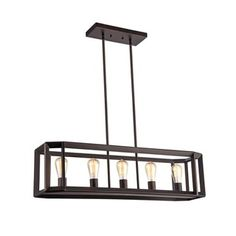 Chloe Industrial 5-light Oil Rubbed Bronze Pendant - 19171201 - Overstock - Great Deals on Chloe Chandeliers & Pendants - Mobile