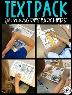 Students conduct their own research with these printable text packs.