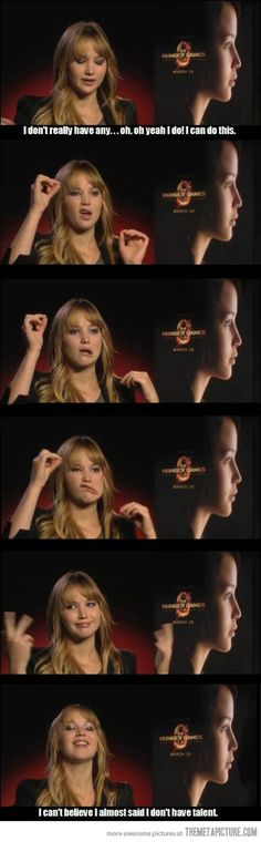 That's Jennifer Lawrence for you. ^~^