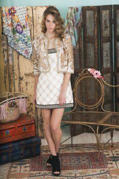 Lookbook Summer of Love Highly Preppy SS16 // Chaqueta sequins #lentejuelas color crudo #bbc